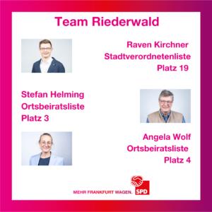Riederwälder Spitzenkandidat*innen